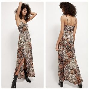 Free People Forever Yours Smocked Slip Dress